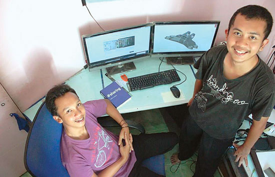 Kakak Beradik Arfi'an Fuadi dan M. Arie Kurniawan - Pakar Design Engineering lulusan SMK