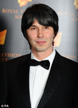 Professor Brian Cox when awarded the Michael Faraday Prize of the Royal Society